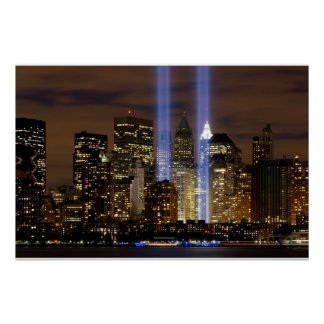 """""""New York City"""" 911 Tribute with Lights Poster"""