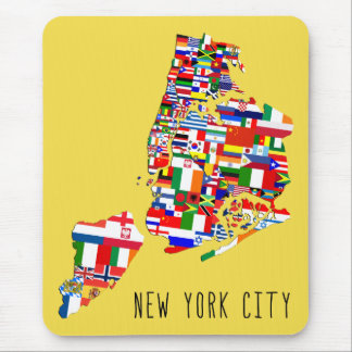 New York City Ancestry Neighborhood Flags Mousemat