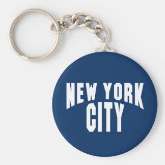 New York City Arch Basic Round Button Key Ring
