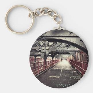 New York City Architecture - Williamsburg Bridge Basic Round Button Key Ring