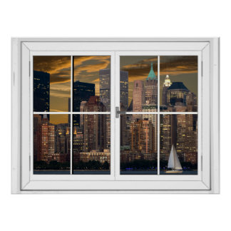 New York City Artificial Window View Poster