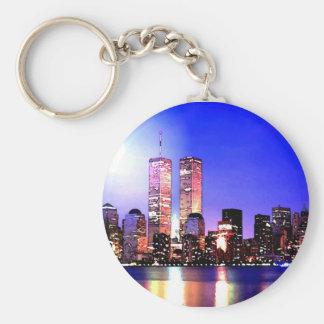 New York City at Night Key Ring