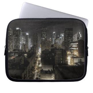 New York City at Night Laptop Sleeve