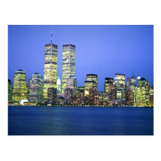 New York City at Night Post Card