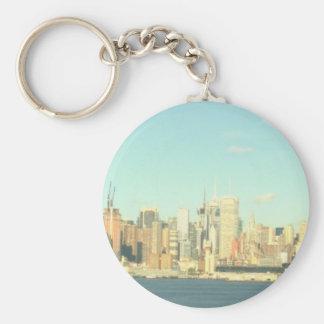 New York City Basic Round Button Key Ring