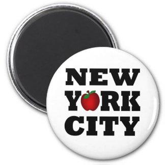 New York City  (Big Apple) 6 Cm Round Magnet