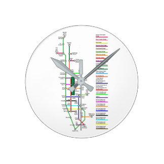 New York City Bike Map Wall Clock