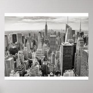New York City Black & White Poster