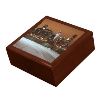 New York City Blanketed in Snow Large Square Gift Box