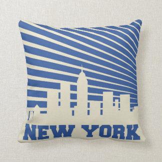 New York City Blue Cushion