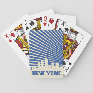 New York City Blue Playing Cards