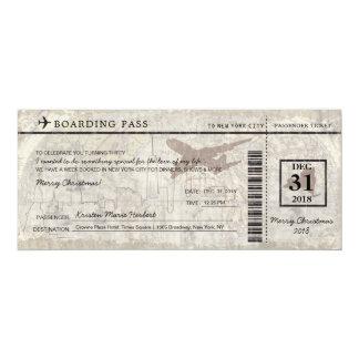 New York City Boarding Pass Card