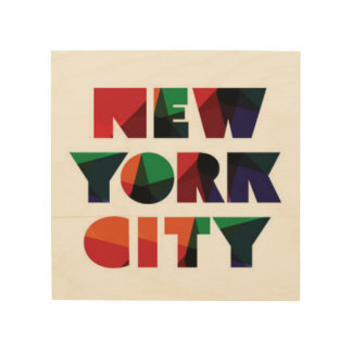 New York City | Bold Typography Wood Print