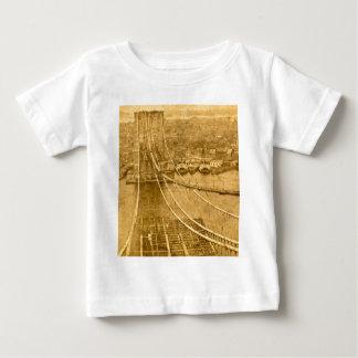 New York City Brooklyn Bridge Construction 1870s Baby T-Shirt