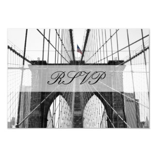 New York City Brooklyn Bridge Wedding Card