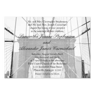 New York City Brooklyn Bridge Wedding Card
