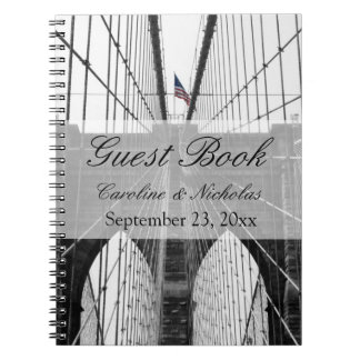 New York City Brooklyn Bridge Wedding Spiral Note Books