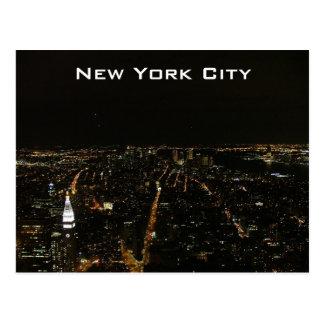 New York City by Night Postcard