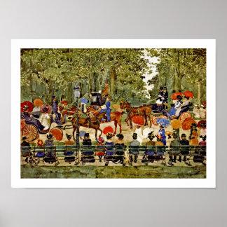 New York City - Central Park in 1901 - Prendergast Poster