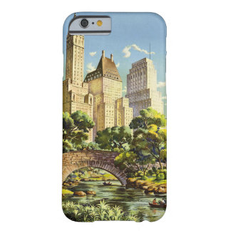 New York City Central Park Vintage Poster Barely There iPhone 6 Case