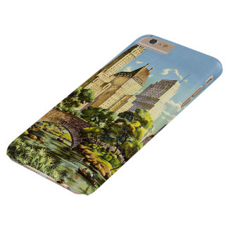 New York City Central Park Vintage Poster Barely There iPhone 6 Plus Case