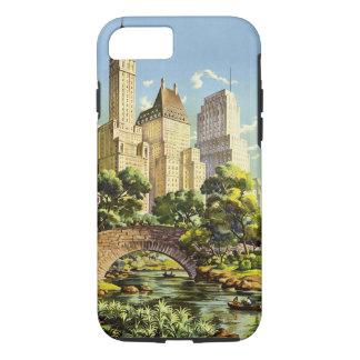 New York City Central Park Vintage Poster iPhone 8/7 Case