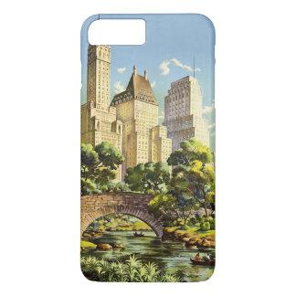 New York City Central Park Vintage Poster iPhone 8 Plus/7 Plus Case