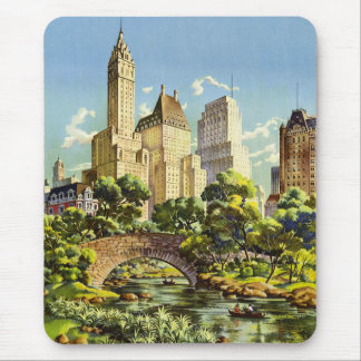New York City Central Park Vintage Poster Mouse Pad