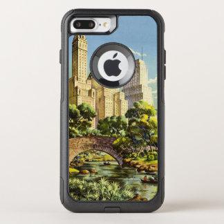 New York City Central Park Vintage Poster OtterBox Commuter iPhone 8 Plus/7 Plus Case