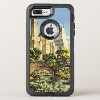 New York City Central Park Vintage Poster OtterBox Defender iPhone 8 Plus/7 Plus Case