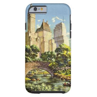 New York City Central Park Vintage Poster Tough iPhone 6 Case