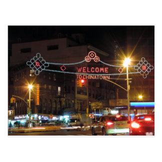 New York City Chinatown Postcard