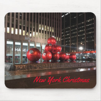 New York City Christmas NYC Holiday Decorations Mouse Pad