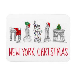 New York City Christmas NYC Holiday Landmarks Magnet
