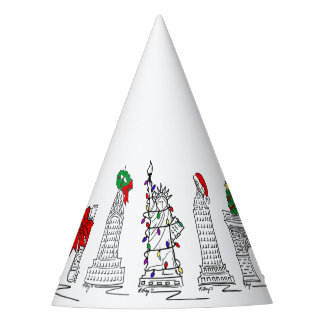 New York City Christmas NYC Holiday Landmarks Party Hat