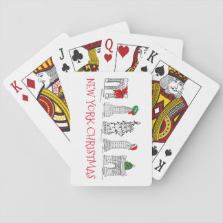 New York City Christmas NYC Holiday Landmarks Playing Cards