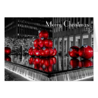 New York City Christmas Photo @ Rockefeller Center Greeting Card