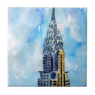 New York City Chrysler Building Tile