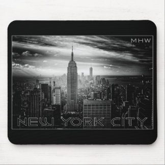 NEW YORK CITY custom monogram mousepad