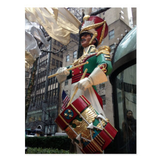New York City Drummer Boy Christmas Postcard