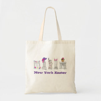 New York City Easter Parade NYC Landmarks Tote