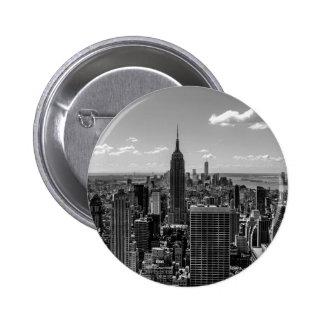 New York City Empire State Building Skyline 6 Cm Round Badge