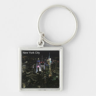 New York City Evening Lights Keychain