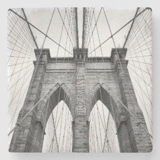 New-York City Famous Brooklyn Bridge Stone Coaster
