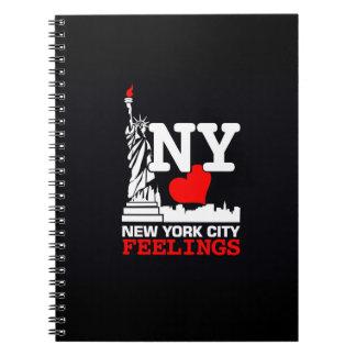 New York City Feelings Black Notebook