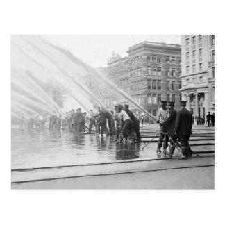 New York City Firemen, 1908 Postcard