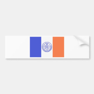 NEW YORK CITY FLAG BUMPER STICKER