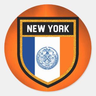 New York City Flag Classic Round Sticker