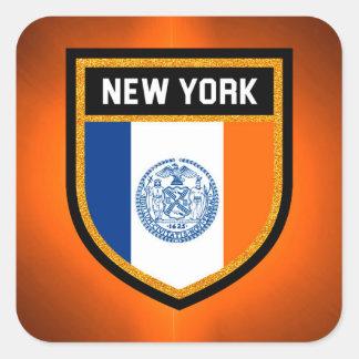 New York City Flag Square Sticker