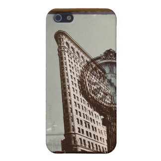 New york City flatiron building and clock Cover For iPhone 5/5S